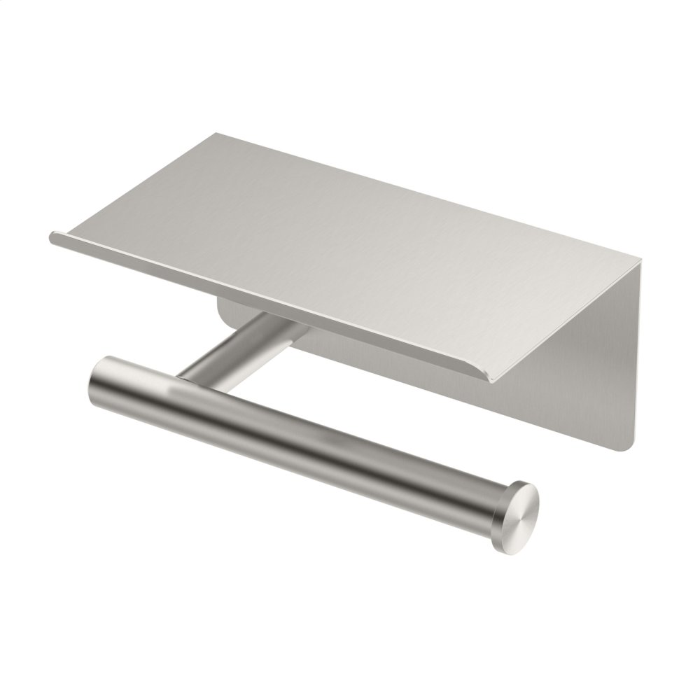 Latitude2 Tissue Holder with Mobile Shelf in Satin Nickel
