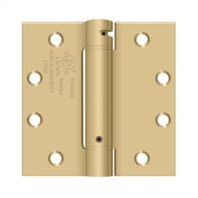 "4 1/2""x 4 1/2"" Spring Hinge, UL Listed - Brushed Brass"