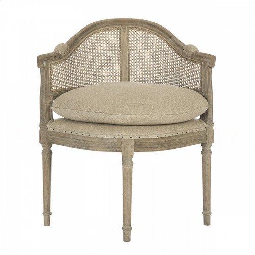 Blue Cane Back Barnwood Chair