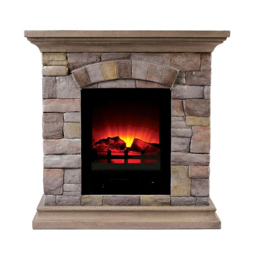 Juna Faux Stone Fireplace