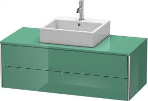 Vanity Unit For Console Wall-mounted, Jade High Gloss Lacquer