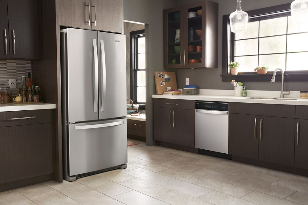 WHIRLPOOL 33 Inch Wide French Door Refrigerator   22 Cu. Ft.
