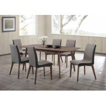 Redbridge Mid-century Modern Natural Walnut Dining Table