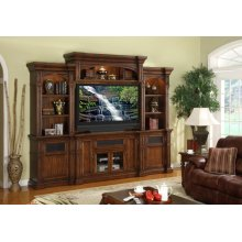 """Berkshire Super 60"""" TV Console with 2 Piers and Bridge"""