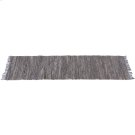 Grey Leather Chindi 2'x6' Rug (Each One Will Vary). Product Image