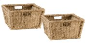 Tuscan Retreat® Blanket Bench Baskets (2) - Seagrass Product Image