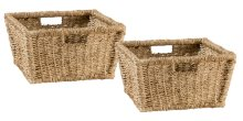 Tuscan Retreat® Blanket Bench Baskets (2) - Seagrass