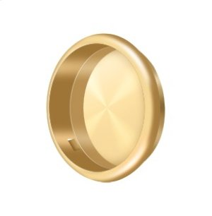 "Flush Pull, Round, 2-1/2"" Diam. - PVD Polished Brass Product Image"