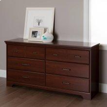 6-Drawer Double Dresser - Royal Cherry