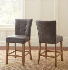 "Debby Counter Chair - Grey 19""x25""x40"" [1/2"" Memory Foam]"
