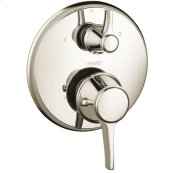 Polished Nickel Thermostatic Trim with Volume Control, Round