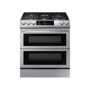 Samsung Appliances6.3 cu. ft. Flex Duo™ Front Control Slide-in Dual Fuel Range with Smart Dial , Air Fry & Wi-Fi in Stainless Steel