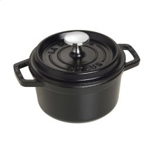 Staub Cast Iron 0.75-qt Round Cocotte, Black Matte