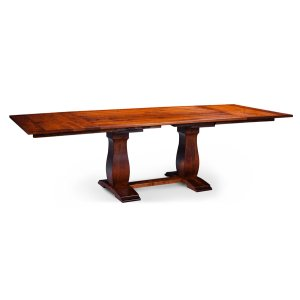 Avalon Double Pedestal Table, Solid Top