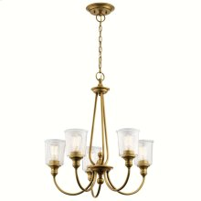 Waverly 5 Light Chandelier Natural Brass