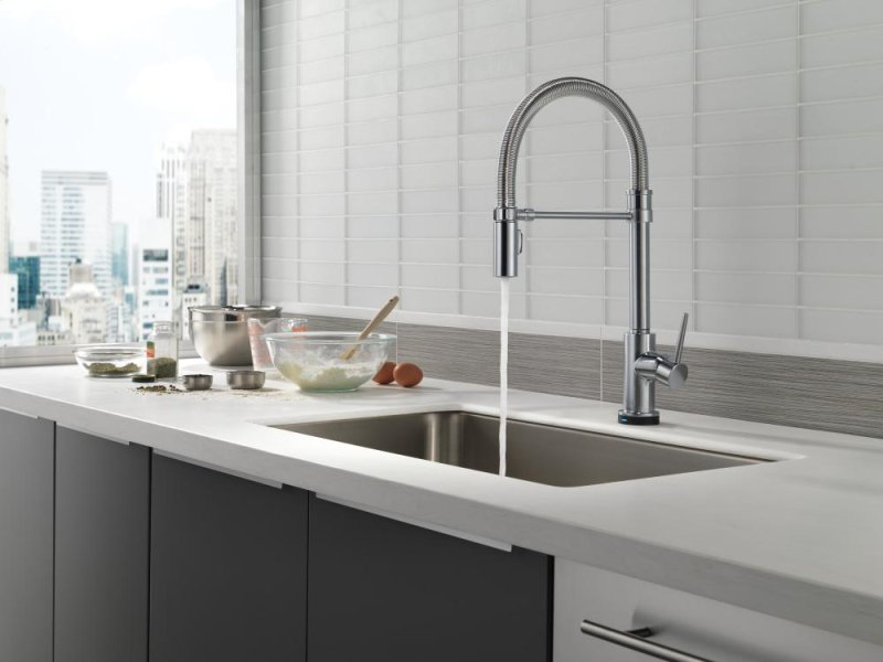 Hidden Additional Arctic Stainless Single Handle Pull Down Spring Spout Kitchen Faucet With Touch 2 O