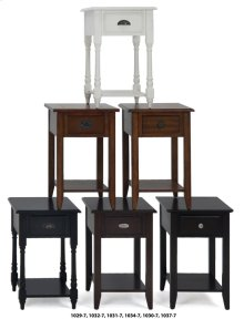 Black Chairside Table