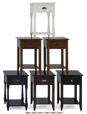 Chairside Table W/picture Framed Top and Black Mission Hardware