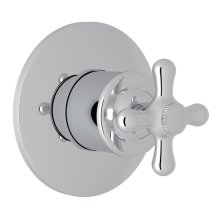 Polished Chrome Verona 4-Port, 3-Way Diverter Trim Only with Verona Series Only Cross Handle