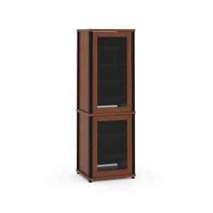 Salamander DesignsSynergy Solution 703, Quad-Width AV Cabinet, Cherry with Black Posts