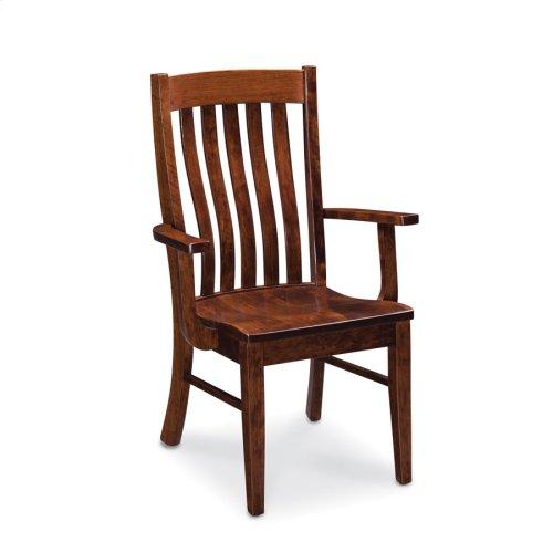 Bradford Arm Chair, Leather Cushion Seat