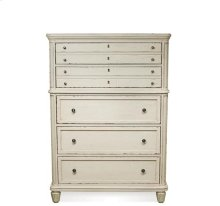 Huntleigh Five Drawer Chest Vintage White finish