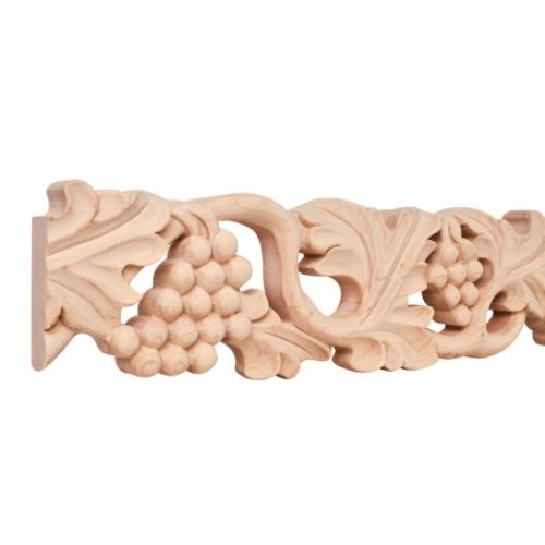 """4"""" x 1"""" Hand Carved Moulding. Species: Basswood. Priced by the linear foot and sold in 8' sticks in cartons of 80'."""