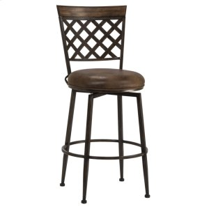 Hillsdale FurnitureGreenfield Commercial Swivel Bar Stool - Dark Brown
