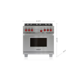 "Wolf  36"" Dual Fuel Range - 6 Burners"