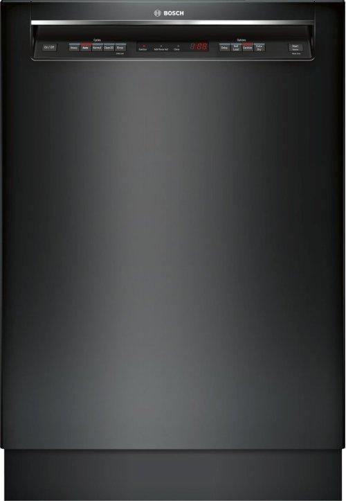 "300 Series 24"" Recessed Handle Dishwasher SHE863WF6N Black"