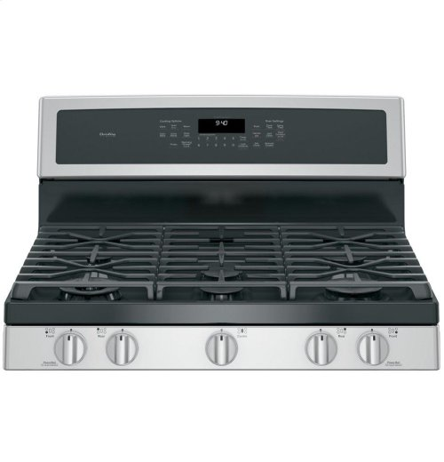 "GE Profile Series 30"" Dual-Fuel Free-Standing Convection Range with Warming Drawer"