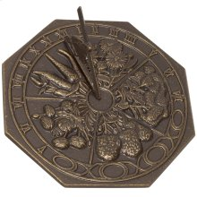 Small Butterfly Sundial - French Bronze