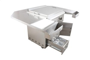 Blaze 30-Inch Gas Griddle On Deluxe Cart, With Fuel type - Propane