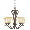 Wedgeport Collection Wedgeport 5 Light Chandelier - Olde Bronze