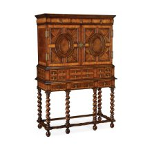 William & Mary Walnut & Oyster Drinks Cabinet