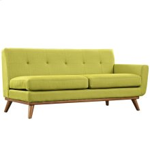Engage Right-Arm Upholstered Fabric Loveseat in Wheatgrass
