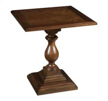 Vintage European Square Pedestal End Table