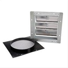 """Aluminum Wall Cap with gravity damper for 10"""" round duct"""