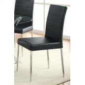 Vance Black and Chrome Dining Chair