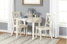Everyday Classics Drop Leaf Table With 4 Ladder Back Chairs- Linen
