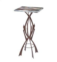 "19.75""Sq X 42.5""H Marina Fused Glass Table"