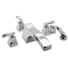 Forever Brass - PVD Roman Tub Faucet with Hand Shower