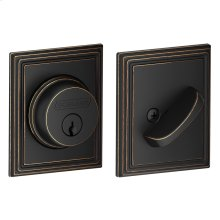 Single Cylinder Deadbolt with Addison trim - Aged Bronze