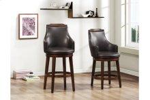 Swivel Counter Height Chair, Dark Brown P/U