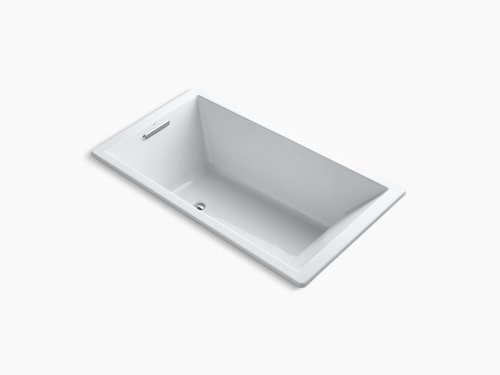 """White 66"""" X 36"""" Drop-in Vibracoustic Bath With End Drain"""