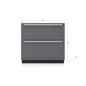 "36"" Designer Refrigerator/Freezer Drawers with Ice Maker - Panel Ready"