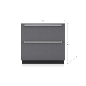 "Subzero36"" Designer Refrigerator/Freezer Drawers with Ice Maker - Panel Ready"