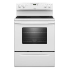 4.8 cu. ft. Electric Range with Spillsaver™ Ceramic-Glass Upswept Cooktop - white