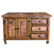 "48"" Copper Vanity W/Drawers Product Image"