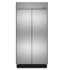 30 Cu. Ft. 48-Inch Width Built-In Side-by-Side Refrigerator, Architect® Series II - Stainless Steel